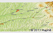 "Physical 3D Map of the area around 46° 26' 14"" N, 24° 43' 30"" E"