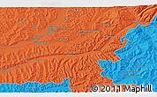 Political 3D Map of Târgu-Mureş