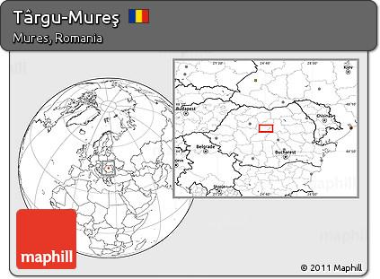 Map of Târgu-Mureş