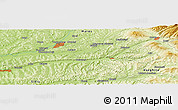 "Physical Panoramic Map of the area around 46° 26' 14"" N, 24° 43' 30"" E"