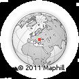 Outline Map of Miercurea Ciuc, rectangular outline