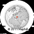 Outline Map of Vaslui, rectangular outline