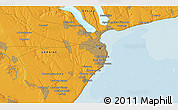 """Political 3D Map of the area around 46°26'14""""N,30°40'29""""E"""