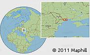 "Savanna Style Location Map of the area around 46°26'14""N,30°40'29""E"