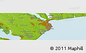 """Physical Panoramic Map of the area around 46°26'14""""N,30°40'29""""E"""
