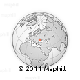Outline Map of Kherson, rectangular outline