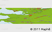 Physical Panoramic Map of Kherson
