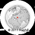 Outline Map of Chaplynka, rectangular outline