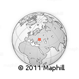 Outline Map of Davydivka, rectangular outline
