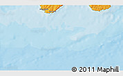 """Political 3D Map of the area around 46°26'14""""N,53°28'30""""W"""