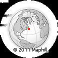 Outline Map of Cape Pine, rectangular outline