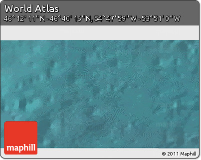 """Satellite 3D Map of the Area around 46°26'14""""N,54°19'30""""W"""