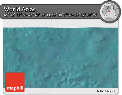 """Satellite 3D Map of the Area around 46°26'14""""N,56°1'29""""W"""