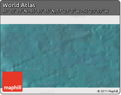"""Satellite 3D Map of the Area around 46°26'14""""N,56°52'30""""W"""