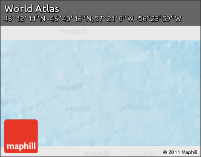 """Shaded Relief 3D Map of the Area around 46°26'14""""N,56°52'30""""W"""