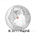 """Outline Map of the Area around 46° 26' 14"""" N, 56° 52' 30"""" W, rectangular outline"""