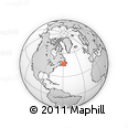 """Outline Map of the Area around 46° 26' 14"""" N, 58° 34' 30"""" W, rectangular outline"""