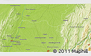 """Physical 3D Map of the area around 46°26'14""""N,5°10'30""""E"""