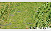 """Satellite 3D Map of the area around 46°26'14""""N,5°10'30""""E"""