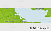 """Physical Panoramic Map of the area around 46°26'14""""N,64°31'30""""W"""