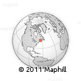 """Outline Map of the Area around 46° 26' 14"""" N, 65° 22' 30"""" W, rectangular outline"""