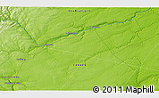 """Physical 3D Map of the area around 46°26'14""""N,66°13'29""""W"""
