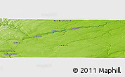 """Physical Panoramic Map of the area around 46°26'14""""N,66°13'29""""W"""