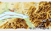 Physical 3D Map of Port-Valais