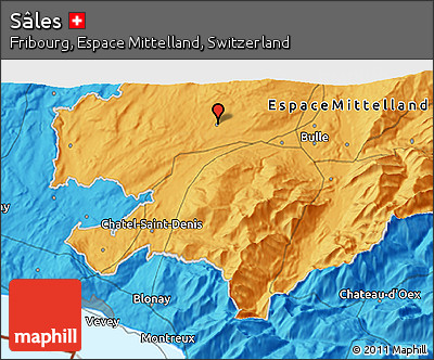 Political 3D Map of Sâles