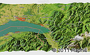 Satellite 3D Map of Vevey