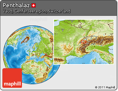 Physical Location Map of Penthalaz
