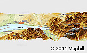 Physical Panoramic Map of Vevey