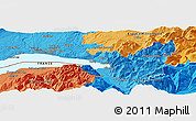 Political Panoramic Map of Vevey