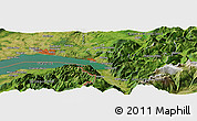 Satellite Panoramic Map of Thonon-les-Bains