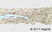 Shaded Relief Panoramic Map of Thonon-les-Bains