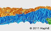 """Political Panoramic Map of the area around 46°26'14""""N,7°43'29""""E"""