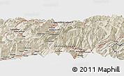 """Shaded Relief Panoramic Map of the area around 46°26'14""""N,7°43'29""""E"""