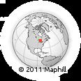 Outline Map of Thessalon, rectangular outline