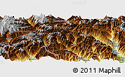 """Physical Panoramic Map of the area around 46°26'14""""N,8°34'29""""E"""