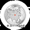 Outline Map of Hüytenii Jisa, rectangular outline