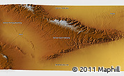 """Physical 3D Map of the area around 46°26'14""""N,94°25'30""""E"""