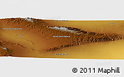 """Physical Panoramic Map of the area around 46°26'14""""N,94°25'30""""E"""