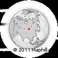 Outline Map of Tümen, rectangular outline