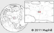 """Blank Location Map of the area around 46°26'14""""N,97°49'29""""E"""