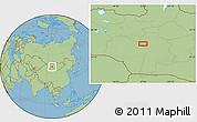 "Savanna Style Location Map of the area around 46°26'14""N,97°49'29""E"