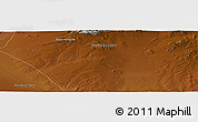 """Physical Panoramic Map of the area around 46°26'14""""N,97°49'29""""E"""