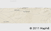 Shaded Relief Panoramic Map of Bayan Hongoriin