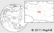 """Blank Location Map of the area around 46°26'14""""N,98°40'30""""E"""