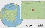 "Savanna Style Location Map of the area around 46°26'14""N,98°40'30""E"
