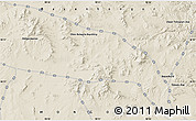 """Shaded Relief Map of the area around 46°26'14""""N,98°40'30""""E"""